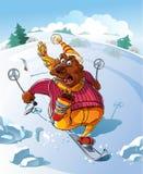 Draag op Ski vector illustratie