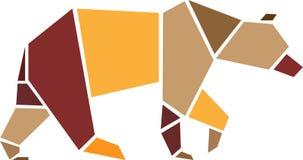 Draag origami geometrische stijl Royalty-vrije Stock Foto's