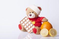 Draag Stuk speelgoed is ziek stock afbeeldingen