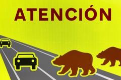 Draag verkeersignaal Bedreigd speciesalarm waarschuwing royalty-vrije stock foto