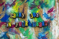 Draag vreugde in uw hart Royalty-vrije Stock Afbeelding