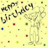 Draag wensen een gelukkige verjaardag Royalty-vrije Stock Fotografie
