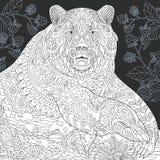Draag in zwart-witte stijl royalty-vrije illustratie