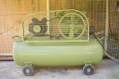 Draagbare compressor Stock Fotografie