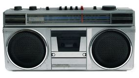 draagbare de cassettespeler van de de jaren '80stijl Royalty-vrije Stock Foto