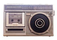 draagbare de muziekspeler van de de jaren '80 Radioband Witte achtergrond met Clipp royalty-vrije stock foto's