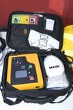 Draagbare defibrillator voor haard Stock Fotografie