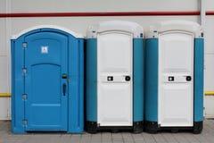 Draagbare ecologische toiletten royalty-vrije stock foto's