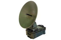 Draagbare satellietantenne Stock Afbeeldingen