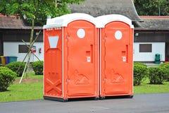 Draagbare Toiletten royalty-vrije stock foto's