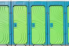 Draagbare toiletten Stock Foto