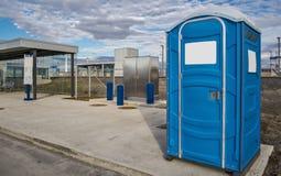 Draagbare toiletten Stock Afbeelding