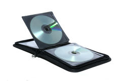 Draagbare zak voor CD Royalty-vrije Stock Afbeelding