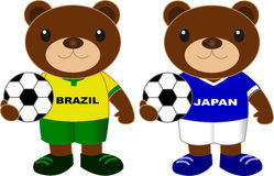 Draagt voetbalteam Brazilië Japan Royalty-vrije Stock Foto's