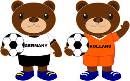 Draagt voetbalteam Duitsland Holland Stock Foto's