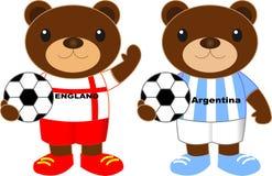 Draagt voetbalteam Engeland Argentinië Stock Afbeelding