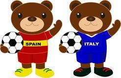 Draagt voetbalteam Spanje Italië Royalty-vrije Stock Afbeelding