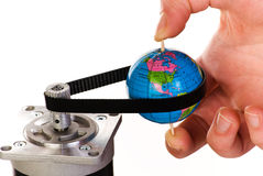 Draai de wereld Stock Foto