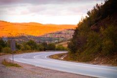 Draai van de weg Stock Foto