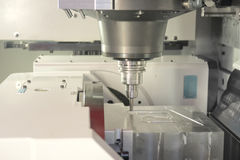 Draaibank, CNC malen Stock Afbeeldingen
