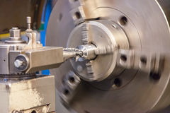 Draaibank in de industriële metaalindustrie Stock Fotografie