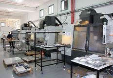 Draaibank en malenmachines cnc stock foto