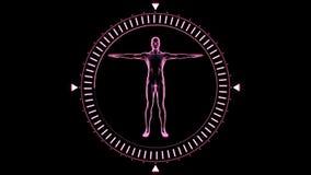 Draaiend cijfer van de mensenmens in het bewegen van wijzerplaatcirkel vector illustratie
