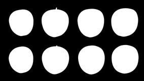 Draaiende appelen, vier opties vector illustratie