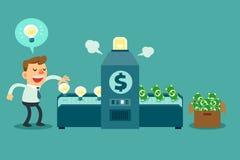 Draaiideeën in geld Stock Afbeelding