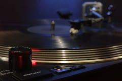 Draaischijf - de vinylspeler van DJ Stock Afbeeldingen