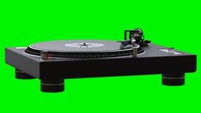 Draaischijf die vinylverslagen spinnen stock video