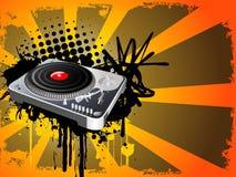 Draaischijf DJ royalty-vrije illustratie