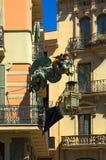 Draak in Barcelona Stock Foto's