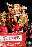 Draak bij Chinese viering Royalty-vrije Stock Foto