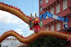 Draak in de stad van China in Malacca Royalty-vrije Stock Foto