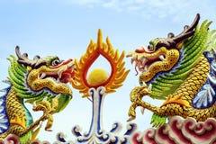 Draak in de tempel Stock Afbeelding