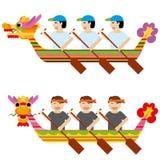 Draak die het ontwerp van de rijstbol eten Stock Afbeelding