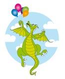 Draak en ballons Stock Fotografie