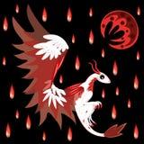 Draak en bloedige regen stock illustratie