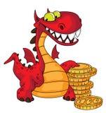 Draak en geld Royalty-vrije Stock Foto