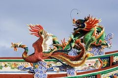 Draak en Phoenix royalty-vrije stock fotografie
