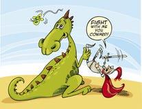 Draak en Ridder royalty-vrije illustratie