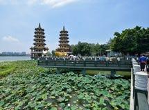 Draak en Tiger Pagodas stock fotografie