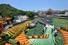 Draak en Tiger Pagodas royalty-vrije stock afbeelding