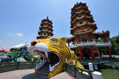Draak en Tiger Pagodas royalty-vrije stock afbeeldingen