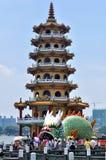 Draak en Tiger Pagodas stock foto