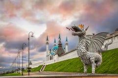 Draak in Kazan royalty-vrije stock foto's