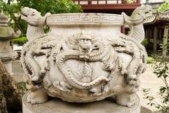 Draak ontworpen potten Royalty-vrije Stock Foto's