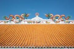 Draak op het dak Stock Afbeeldingen