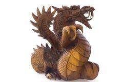 Draak, symbool van nieuw jaar, dat op wit wordt geïsoleerd Stock Fotografie